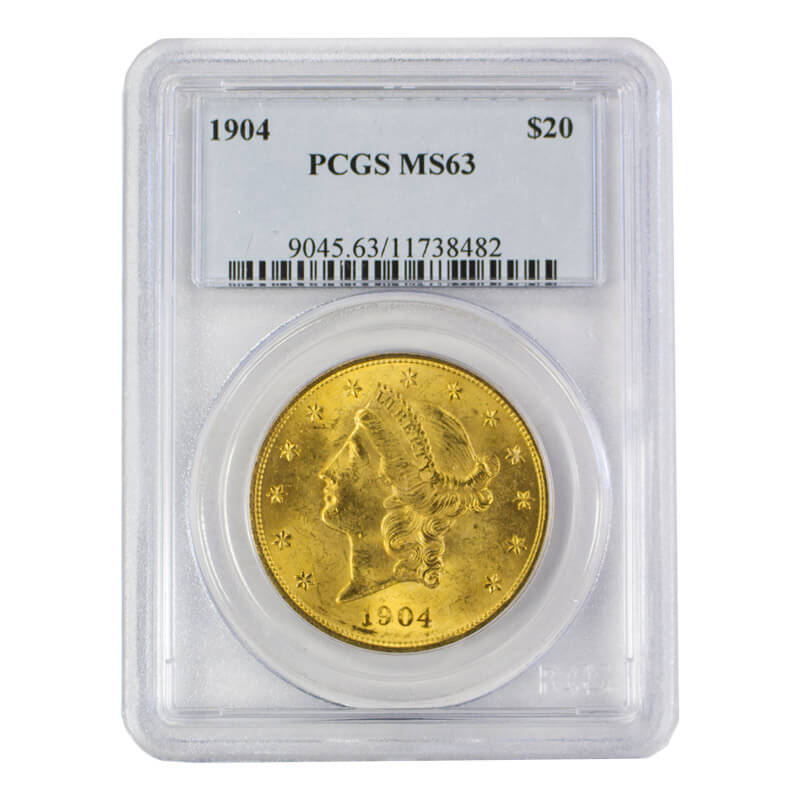 $20 Liberty Gold Double Eagle MS Series