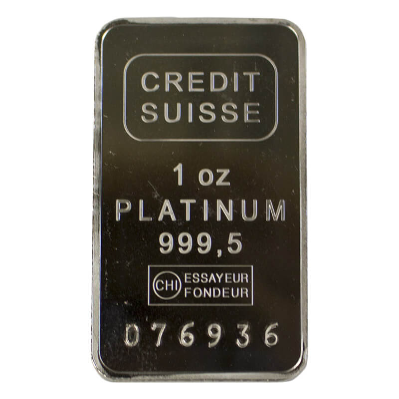 1-oz Platinum Bar